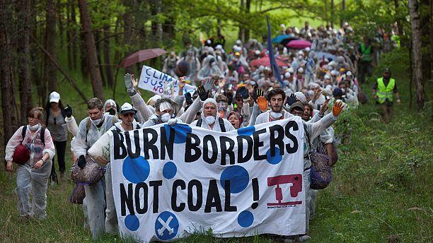 Activists occupy Germany coal mine