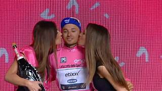 Giro d'Italia: Brambilla solos into pink in stage eight victory