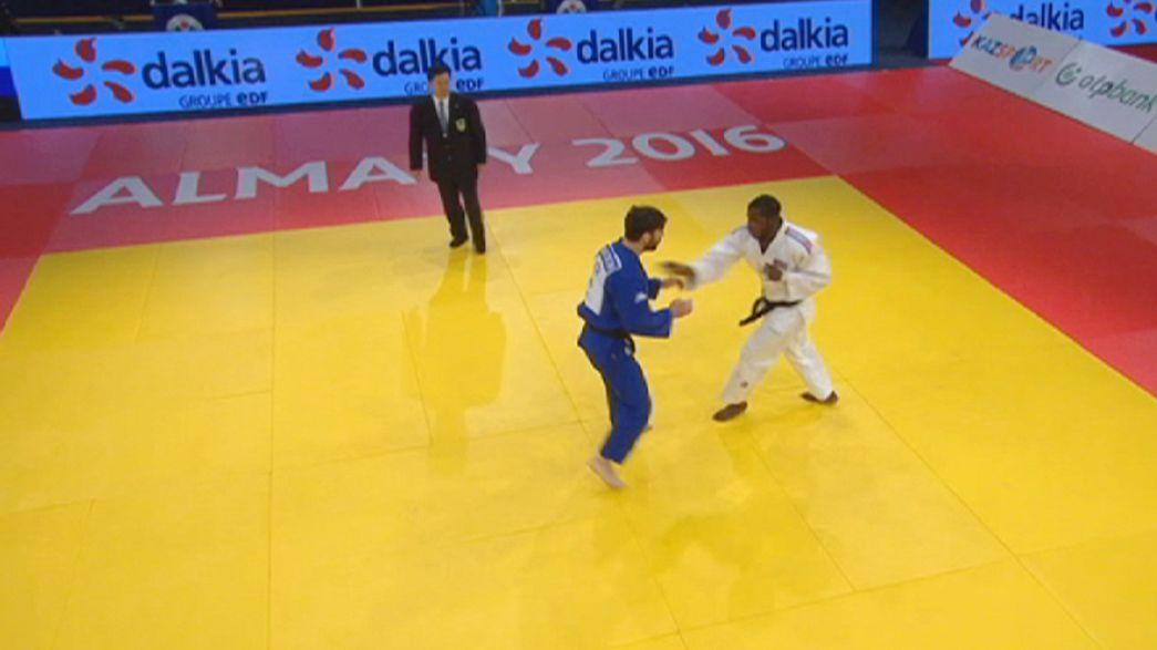 Almatı Grand Prix'sinde judo şöleni sürüyor
