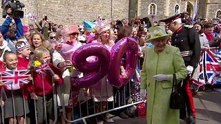 التحضيرات للاستعراض الكبير في عيد ميلاد الملكة اليزابيث الـ90