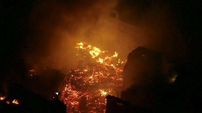 Brezilya'da gecekondu mahallesinde yangın dehşeti