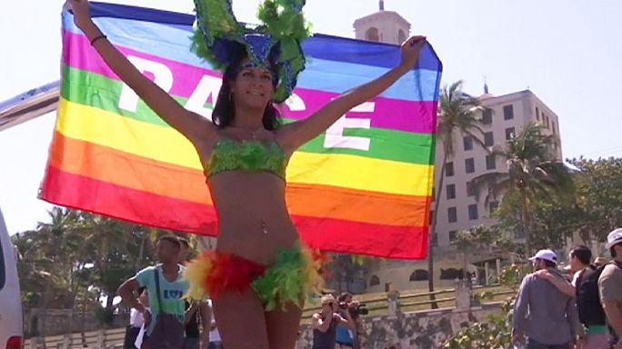 Marcha del orgullo gay en La Habana