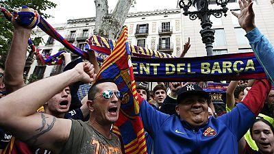 Luis Suarez hat-trick fires Barcelona to 24th La Liga title