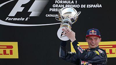 Verstappen wins Spanish GP after both Mercedes crash out