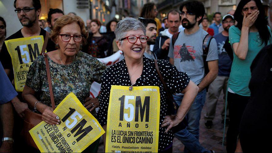 Miles de indignados celebran en Madrid el quinto aniversario del 15M