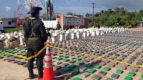 Elképesztő drogfogás Kolumbiában