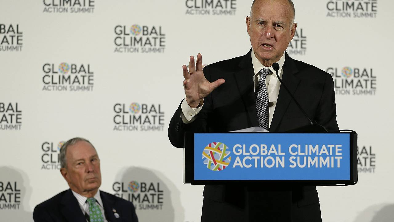 Image: Michael Bloomberg, Jerry Brown