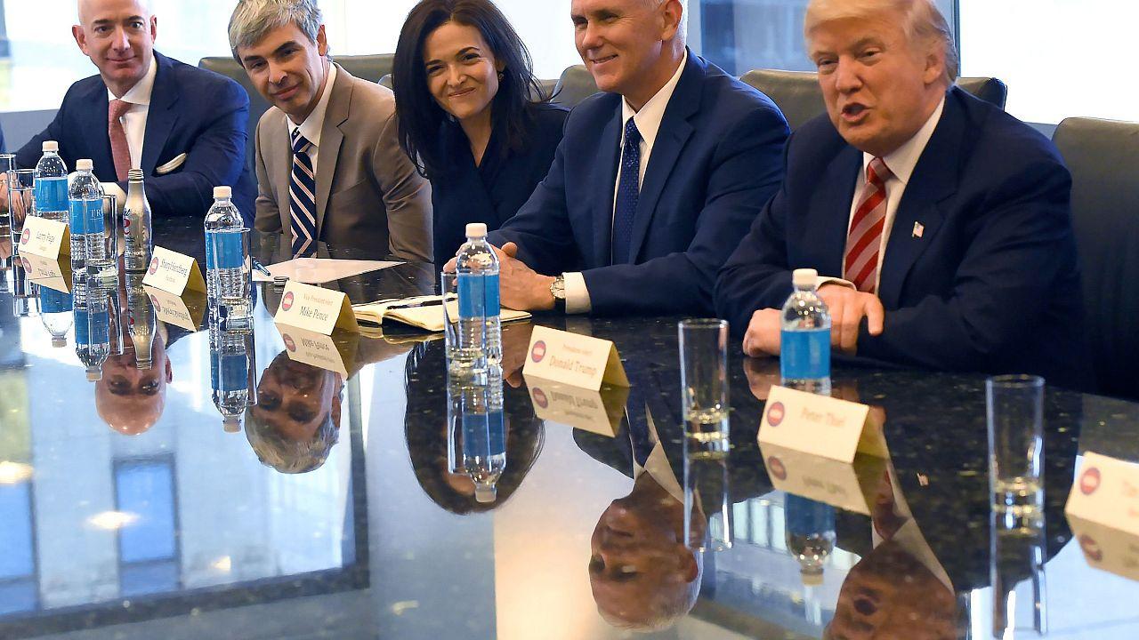 Image: Donald Trump, tech executives