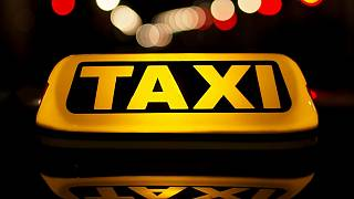 South African taxi drivers protest against Uber