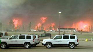 Kanada'da yangın petrol çıkarılan bölgeyi çevreledi