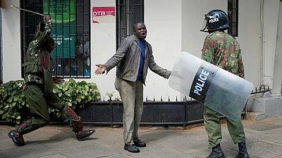 Kenyans stage online protest against police for Monday's violence