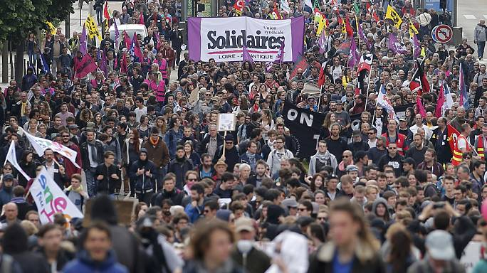 Semana de protestas en Francia en contra de la reforma laboral