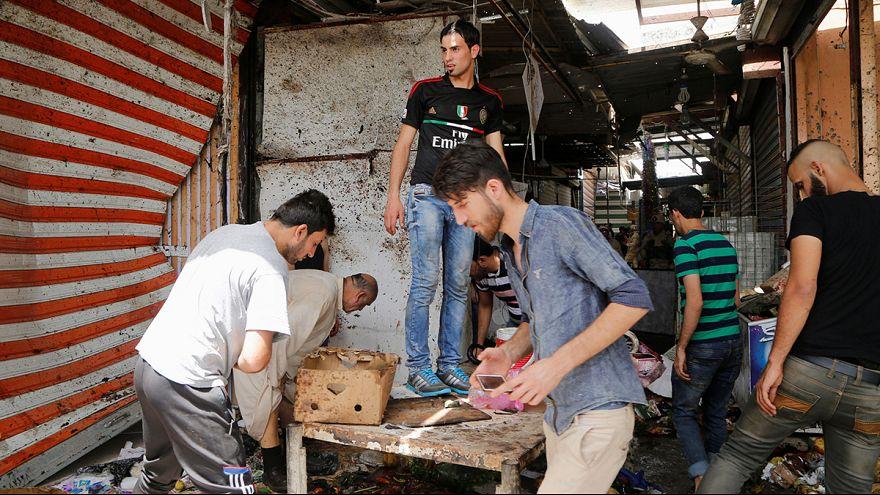 Una cincuentena de muertos en un doble atentado en Bagdad