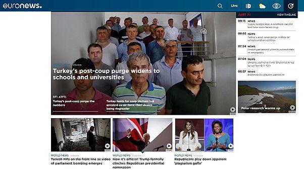 Euronews'in yeni sitesi yayında