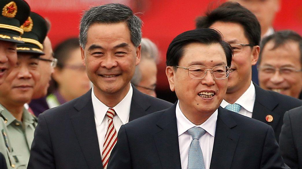 Şemsiye protestolarının ardından Çin'den Hong Kong'a ilk resmi ziyaret