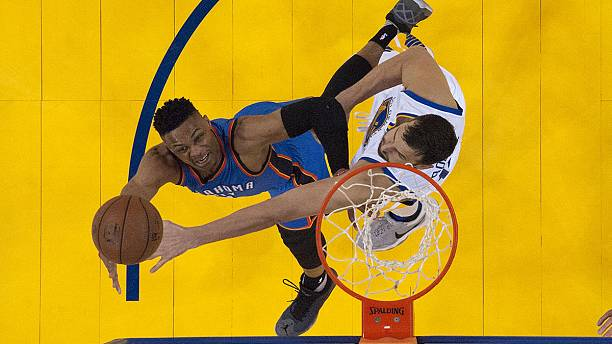 NBA playoffs: Oklahoma rally back to beat Golden State and draw first blood