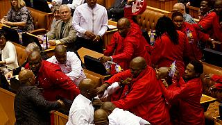 S. Africa opposition expelled from parliament for heckling Zuma