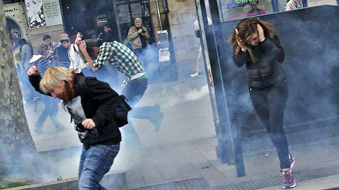 Франция: противники трудовой реформы вновь вступили в столкновения с полицией