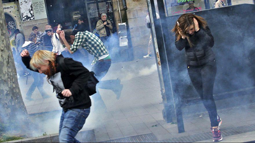 Miles de franceses vuelven a tomar las calles en una nueva semana de protestas contra la reforma laboral