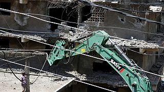 Kenya : un immeuble démoli à Nairobi