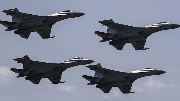 Image: Russian Sukhoi Su-35 aircraft