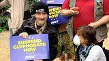 Activistas contra la renovación del glifosato