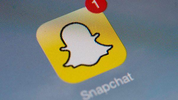 Image: The Snapchat logo on Jan. 2, 2014.