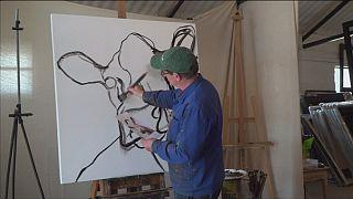 نقاشی که گاوها را می کشد
