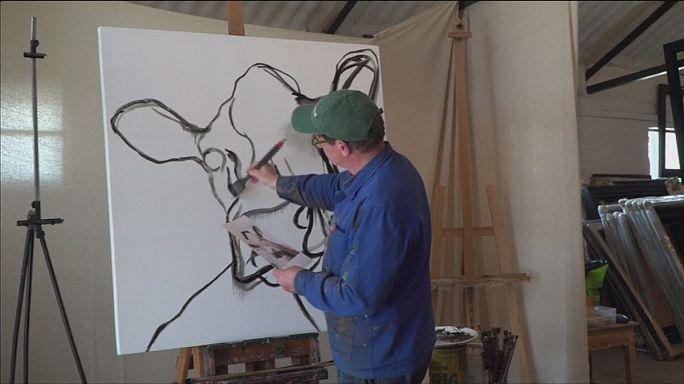 Kendini sığır tablolarına adamış bir ressam