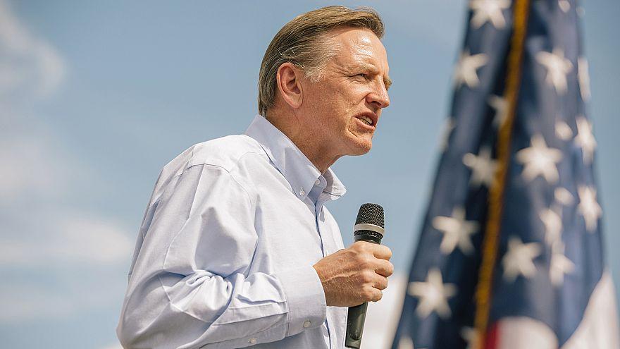 Representative Paul Gosar, a Republican from Arizona, speaks during a 'Road