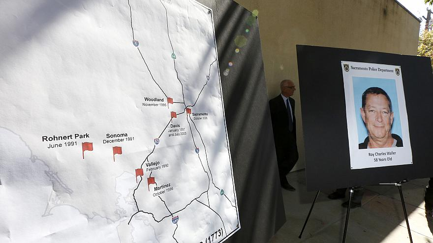 Image: A map marks where a series of rapes in Northern California occurred