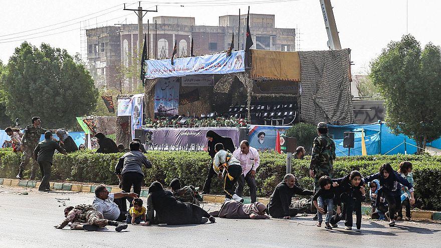 Image: IRAN-MILITARY-UNREST-ATTACK