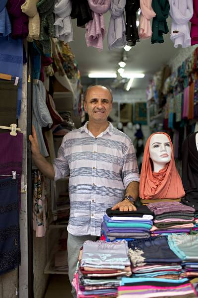 What crisis? Istanbul trader Sunay Alo insists business is good.