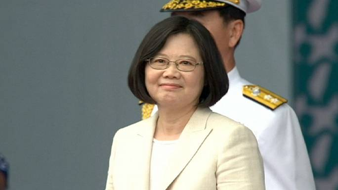 Taiwan's first female president Tsai Ing-wen sworn in
