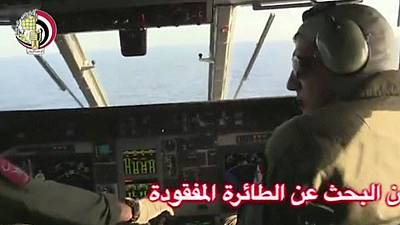 Body part and suitcases found in search for missing EgyptAir MS804