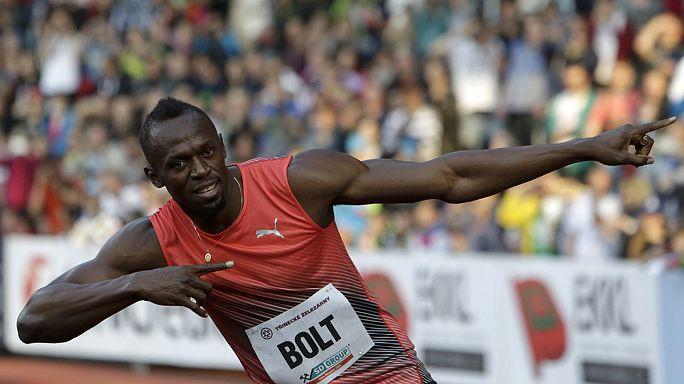 Usain Bolt Ostrava'da piste çıktı