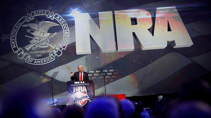 تضامن الجمعية الوطنية للبنادق وللأسلحة الفردية الأمريكية مع المرشح الجمهوري دونالد ترامب