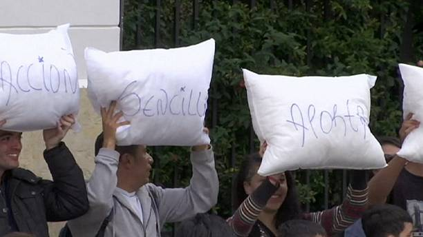 Pillow fight for peace