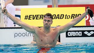 European Aquatics Championships: Italy's Dotto crowned freestyle king as Pedersen defends title