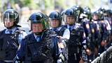 A kazah rendőrség feloszlatott egy kormányellenes tüntetést