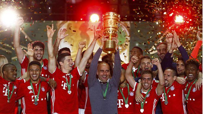 """Guardiola despede-se do Bayern com mais uma """"dobradinha"""""""
