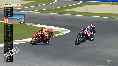 Spills and thrills as Lorenzo takes lead in MotoGP