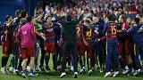 Barcelona edge out Sevilla to claim their 28th Copa del Rey title