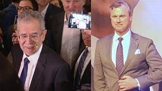 Presidenciales en Austria: dos victorias, dos fiestas