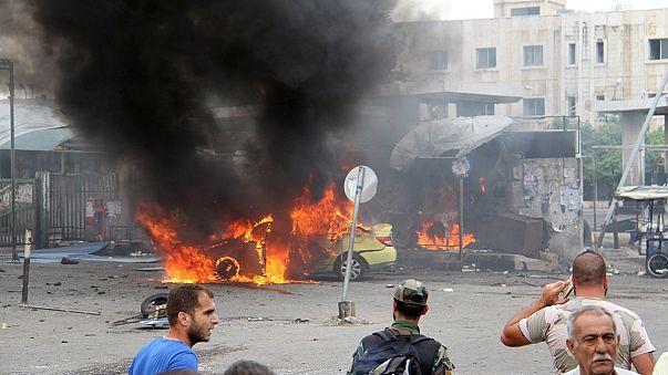"""ازدياد عدد ضحايا تفجيرات طرطوس وجبلة التي تبناها تنظيم """"الدولة الاسلامية"""""""