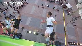 'Vertical soccer game' takes place at Hotel de Ville in Paris