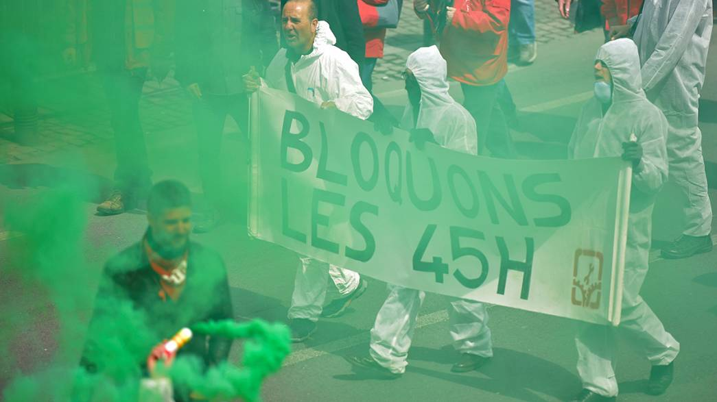 Протесты трудящихся в Брюсселе вылились в беспорядки