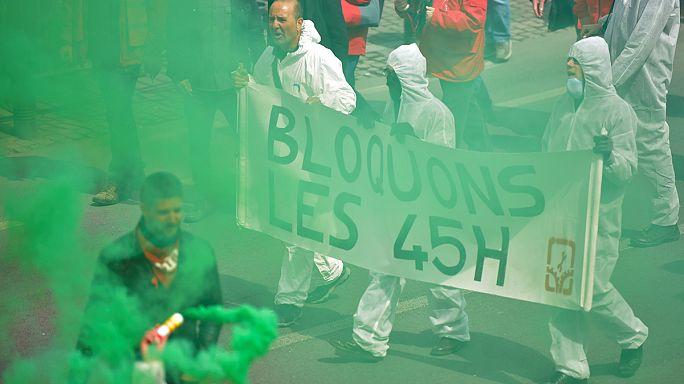 أكثر من ستين ألف شخص شاركوا بمظاهرة نقابية و عمالية في بروكسل