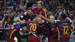 Football : le FC Barcelone célèbre son doublé Liga - Coupe du Roi