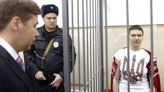 Rusya'ya kaçırılan Ukraynalı pilot Nadiya Savchenko Kiev'de